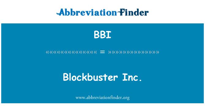 BBI: Blockbuster Inc.