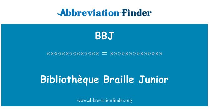 BBJ: Bibliothèque Braille Junior