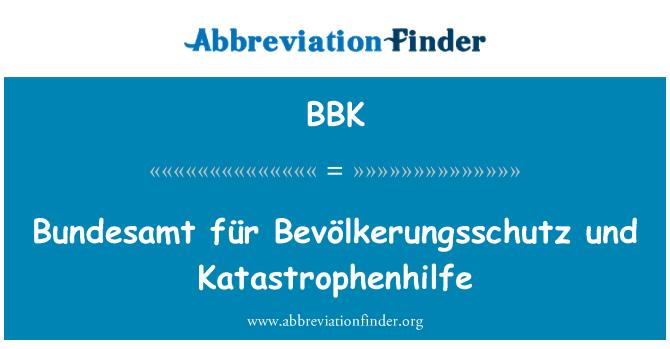 BBK: Bundesamt für Bevölkerungsschutz und Katastrophenhilfe