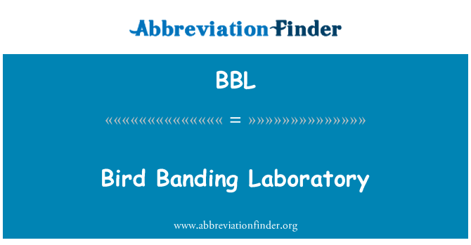 BBL: Bird Banding Laboratory