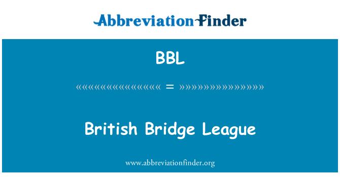 BBL: British Bridge League