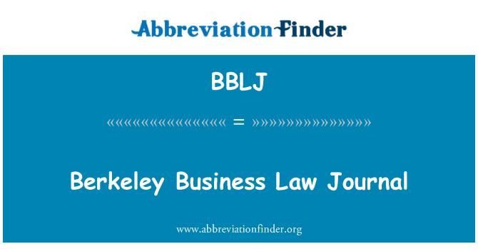 BBLJ: Berkeley Business Law Journal