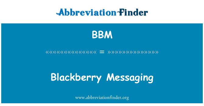 BBM: Blackberry Messaging