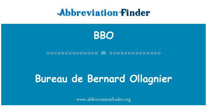 BBO: Bureau de Bernard Ollagnier