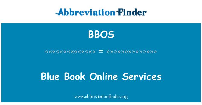 BBOS: Blue Book Online Services