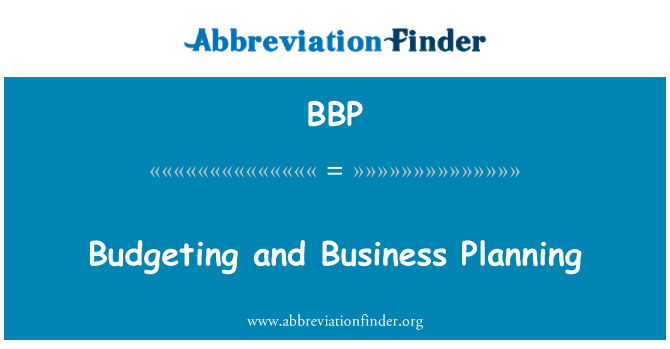 BBP: Budgeting and Business Planning