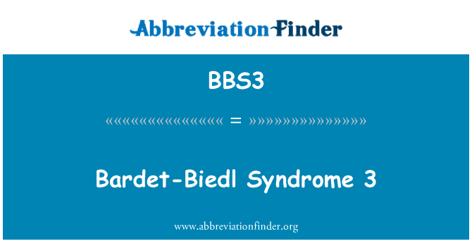 BBS3: Bardet-Biedl Syndrome 3
