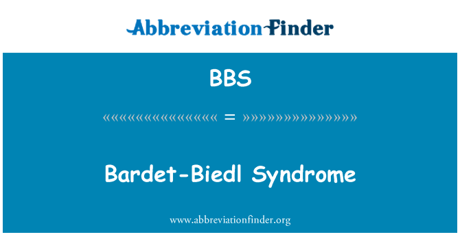 BBS: Bardet-Biedl Syndrome
