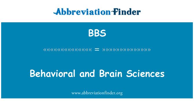 BBS: Behavioral and Brain Sciences