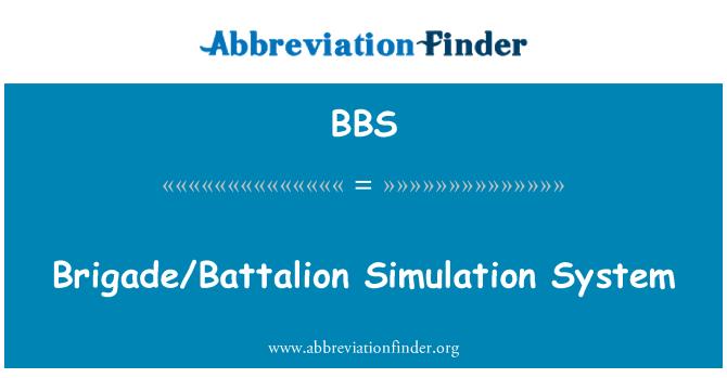 BBS: Brigade/Battalion Simulation System