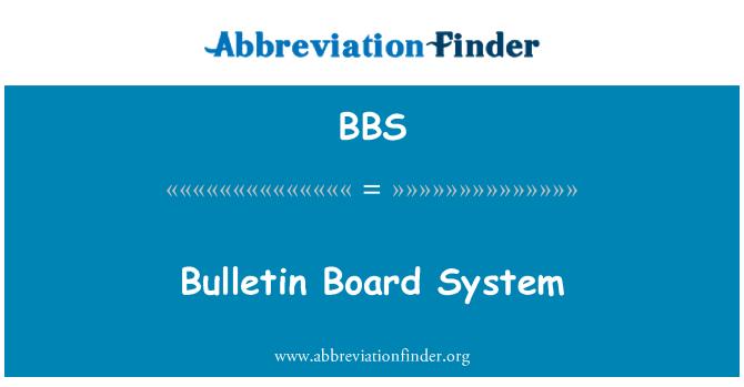 BBS: Bulletin Board System