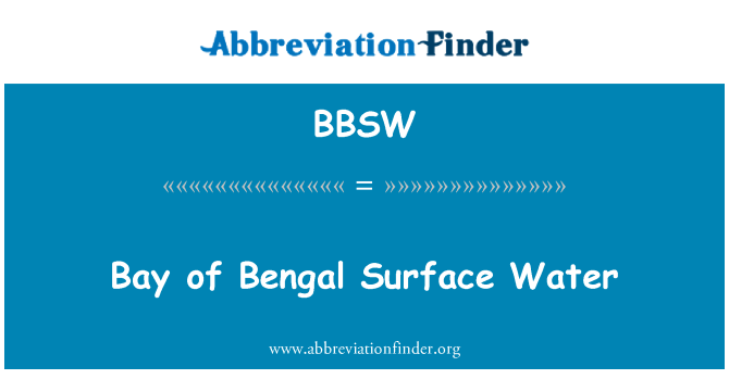 BBSW: Bengal Körfezi yüzey su