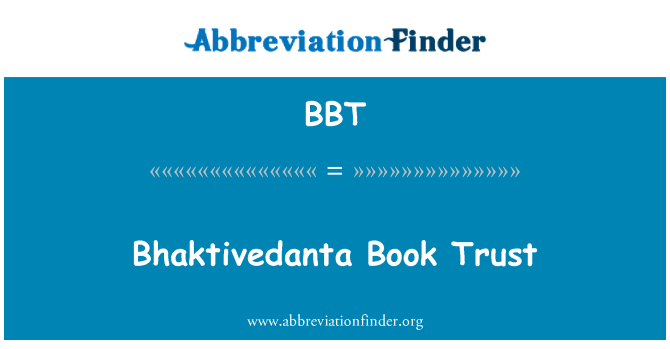 BBT: Bhaktivedanta Book Trust