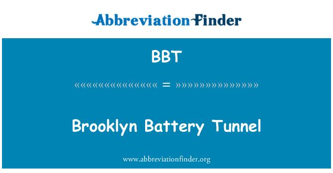 BBT: Brooklyn Battery Tunnel