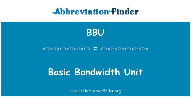 BBU: Basic Bandwidth Unit
