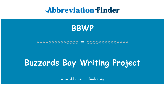 BBWP: Buzzards Bay Writing Project