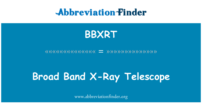 BBXRT: Broad Band X-Ray Telescope