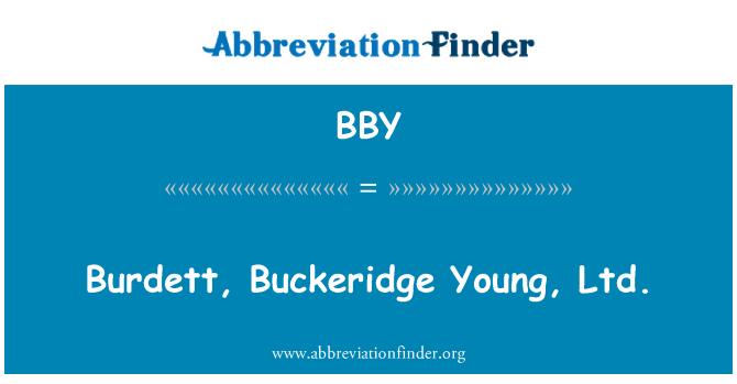 BBY: Burdett, Buckeridge Young, Ltd.