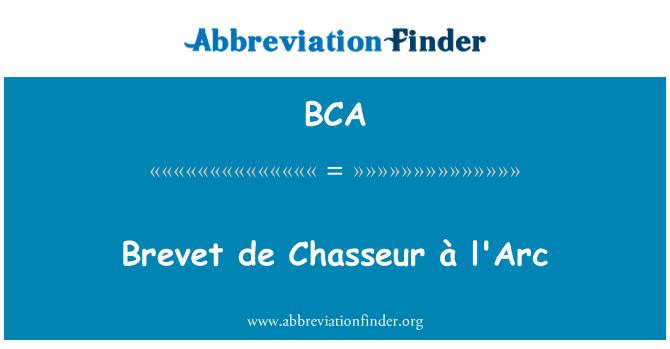 BCA: Brevet de Chasseur à l'Arc