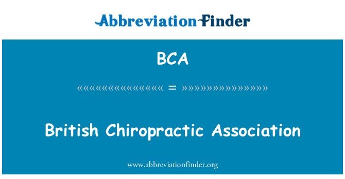 BCA: British Chiropractic Association