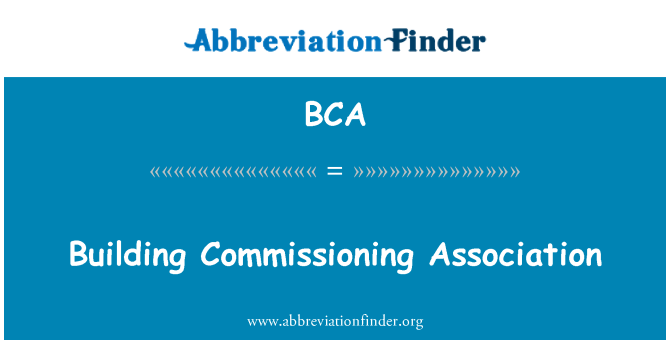 BCA: Building Commissioning Association