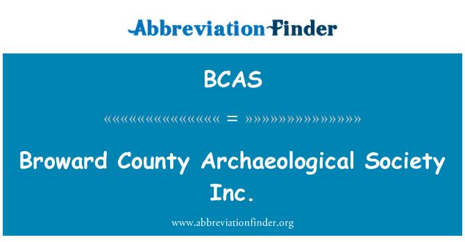 BCAS: Broward County Archaeological Society Inc.