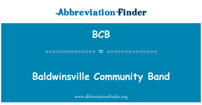 BCB: Baldwinsville Community Band