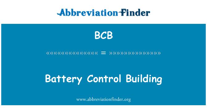 BCB: Battery Control Building