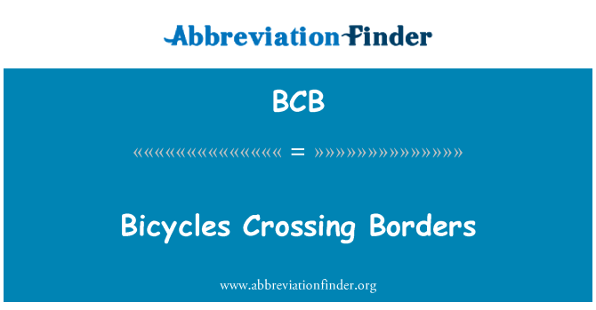 BCB: Bicycles Crossing Borders