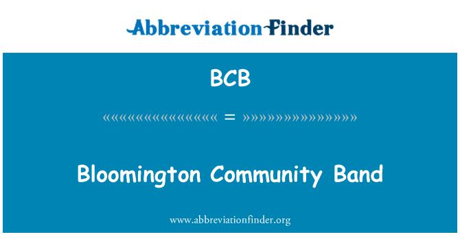 BCB: Bloomington Community Band