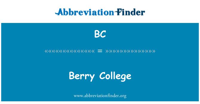 BC: Berry College