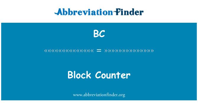 BC: Block Counter