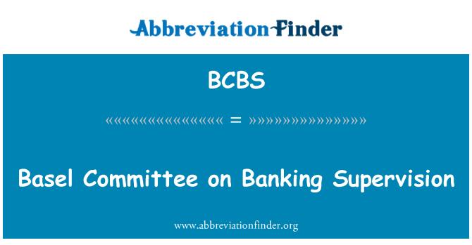 BCBS: Baseli pangajärelevalve komitee