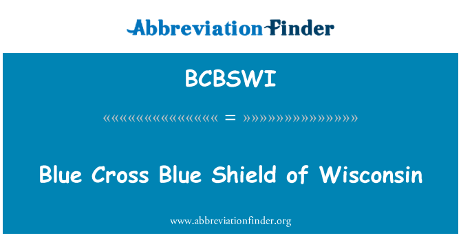 BCBSWI: Blue Cross Blue Shield de Wisconsin