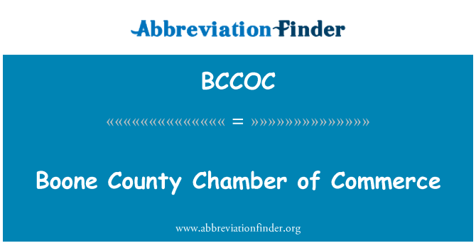 BCCOC: Boone County Chamber of Commerce