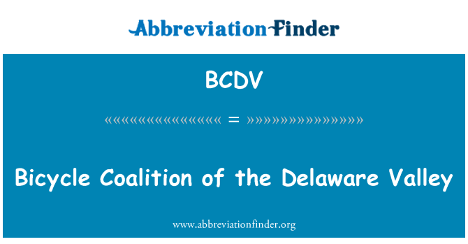 BCDV: Bicycle Coalition of the Delaware Valley