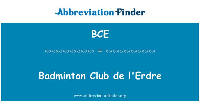 BCE: Badminton Club de l'Erdre