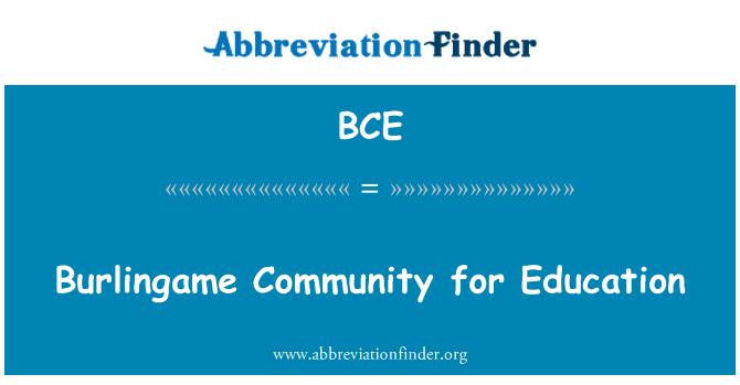 BCE: Burlingame Community for Education