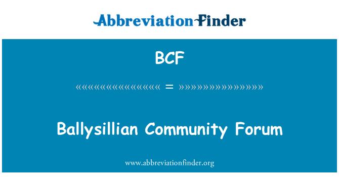 BCF: Ballysillian Community Forum