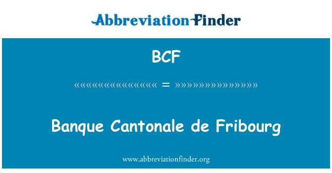BCF: Banque Cantonale de Fribourg