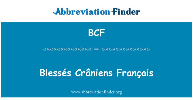 BCF: Blessés Crâniens Français