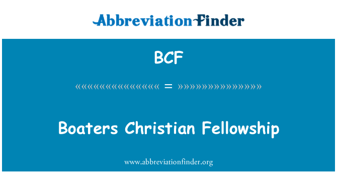 BCF: Boaters Christian Fellowship