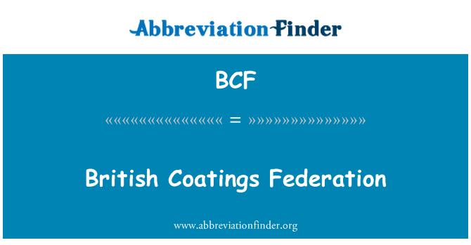 BCF: British Coatings Federation