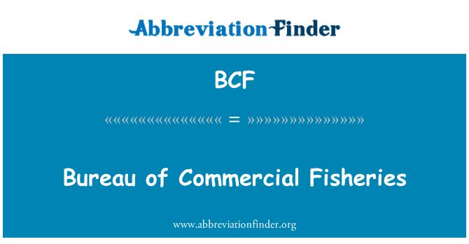 BCF: Bureau of Commercial Fisheries