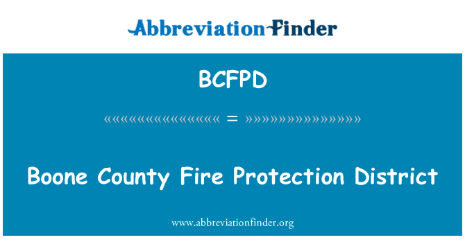 BCFPD: Boone County Fire Protection District