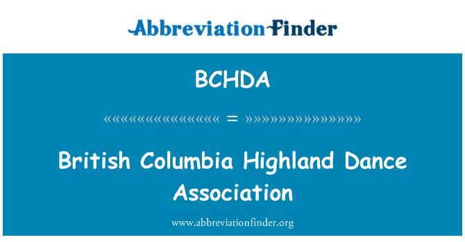 BCHDA: British Columbia Highland Dance Association