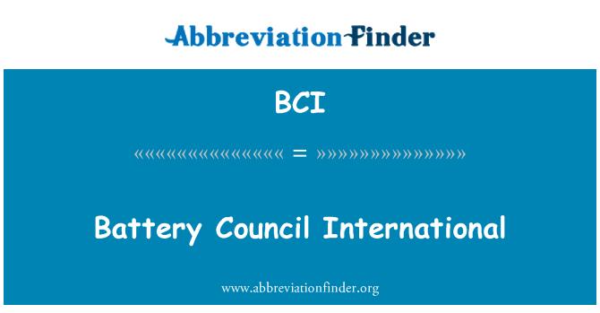 BCI: Battery Council International