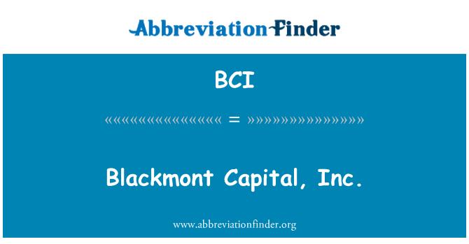 BCI: Blackmont Capital, Inc.