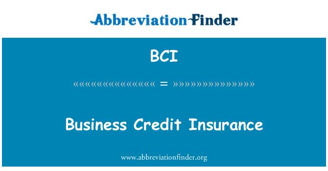 BCI: Business Credit Insurance