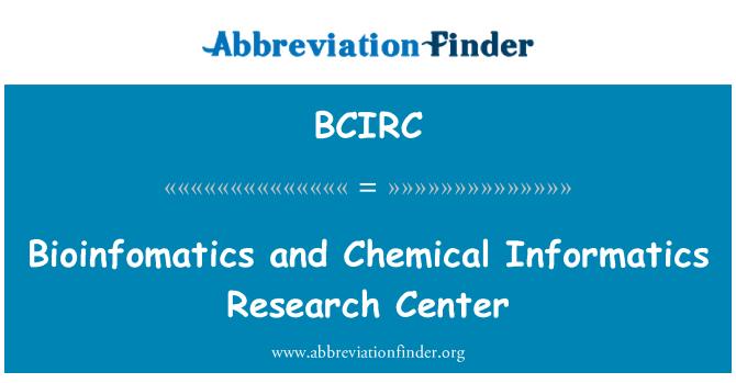 BCIRC: Bioinfomatics and Chemical Informatics Research Center